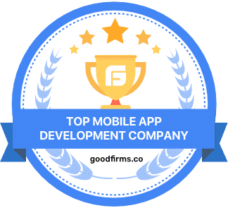 top mobile app development company goodfirms badge